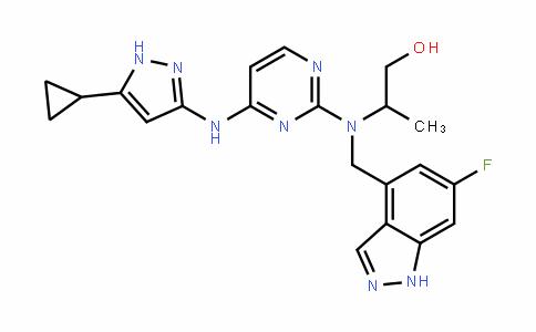 1-Propanol, 2-[[4-[(5-cyclopropyl-1H-pyrazol-3-yl)amino]-2-pyrimiDinyl][(6-fluoro-1H-inDazol-4-yl)methyl]amino]-