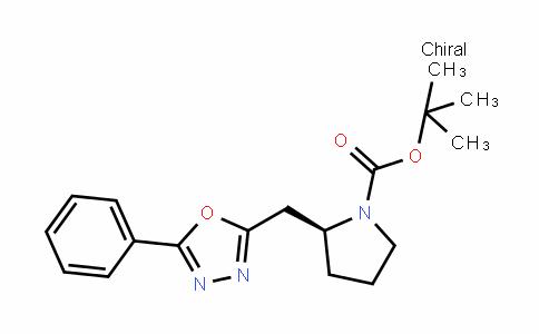 1-PyrroliDinecarboxylic acid, 2-[(5-phenyl-1,3,4-oxaDiazol-2-yl)methyl]-, 1,1-Dimethylethyl ester, (2S)-