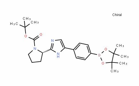 1-PyrroliDinecarboxylic acid, 2-[5-[4-(4,4,5,5-tetramethyl-1,3,2-Dioxaborolan-2-yl)phenyl]-1H-imiDazol-2-yl]-, 1,1-Dimethylethyl ester, (2S)-