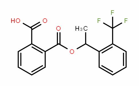 2-((1-(2-(trifluoromethyl)phenyl)ethoxy)carbonyl)benzoic acid
