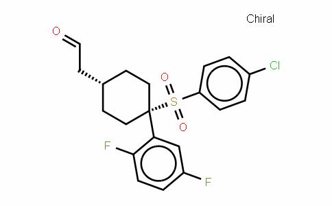 2-((1s,4s)-4-(4-chlorophenylsulfonyl)-4-(2,5-Difluorophenyl)cyclohexyl)acetalDehyDe