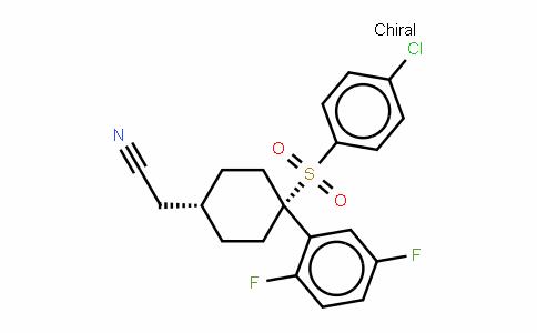 2-((1s,4s)-4-(4-chlorophenylsulfonyl)-4-(2,5-Difluorophenyl)cyclohexyl)acetonitrile