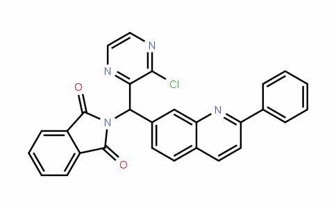 2-((3-chloropyrazin-2-yl)(2-phenylquinolin-7-yl)methyl)isoinDoline-1,3-Dione