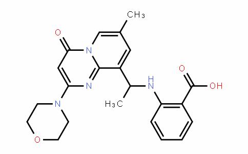 2-(1-(7-methyl-2-morpholino-4-oxo-4H-pyriDo[1,2-a]pyrimiDin-9-yl)ethylamino)benzoic acid