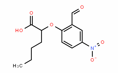 2-(2-formyl-4-nitrophenoxy)hexanoic acid