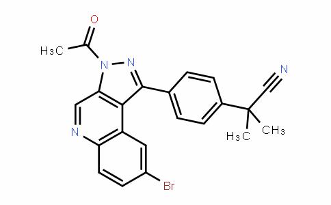2-(4-(3-acetyl-8-bromo-3H-pyrazolo[3,4-c]quinolin-1-yl)phenyl)-2-methylpropanenitrile