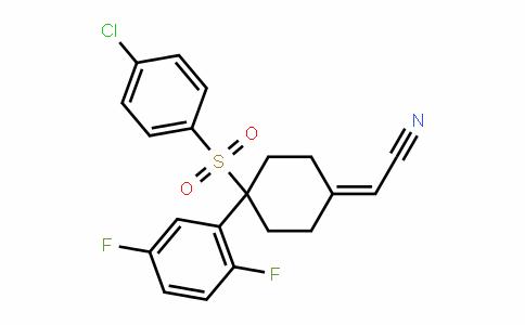 2-(4-(4-chlorophenylsulfonyl)-4-(2,5-Difluorophenyl)cyclohexyliDene)acetonitrile