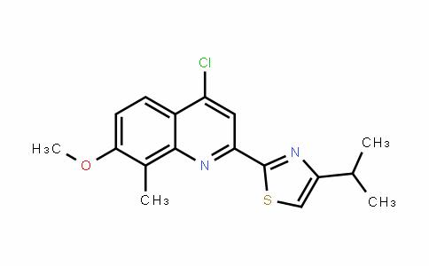 2-(4-chloro-7-methoxy-8-methylquinolin-2-yl)-4-isopropylthiazole