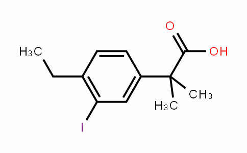 2-(4-ethyl-3-ioDophenyl)-2-methylpropanoic acid