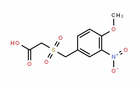 2-(4-methoxy-3-nitrobenzylsulfonyl)acetic acid