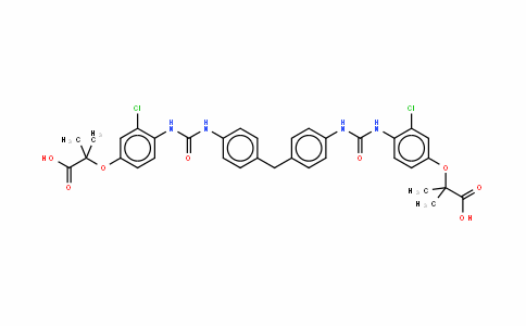 2,2'-(4,4'-(4,4'-methylenebis(2-chloro-4,1-phenylene))bis(azaneDiyl)bis(oxomethylene)bis(azaneDiyl)bis(4,1-phenylene))bis(oxy)bis(2-methylpropanoic acid)
