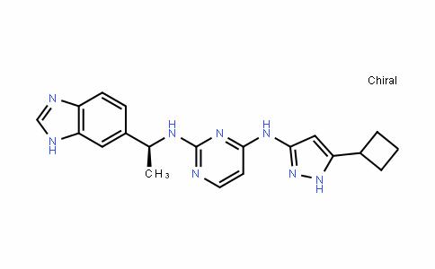 2,4-PyrimiDineDiamine, N2-[(1S)-1-(1H-benzimiDazol-6-yl)ethyl]-N4-(5-cyclobutyl-1H-pyrazol-3-yl)-
