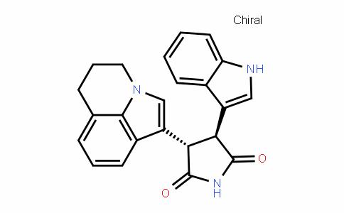 2,5-PyrroliDineDione, 3-(5,6-DihyDro-4H-pyrrolo[3,2,1-ij]quinolin-1-yl)-4-(1H-inDol-3-yl)-, (3S,4S)-