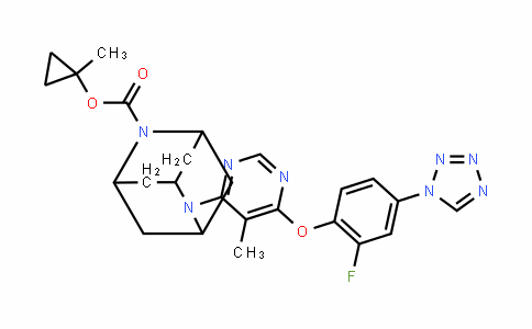 2,6-Diazatricyclo[3.3.1.13,7]Decane-2-carboxylic acid, 6-[6-[2-fluoro-4-(1H-tetrazol-1-yl)phenoxy]-5-methyl-4-pyrimiDinyl]-, 1-methylcyclopropyl ester