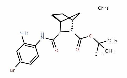 2-Azabicyclo[2.2.1]heptane-2-carboxylic acid, 3-[[(2-amino-4-bromophenyl)amino]carbonyl]-, 1,1-Dimethylethyl ester, (1R,3S,4S)-
