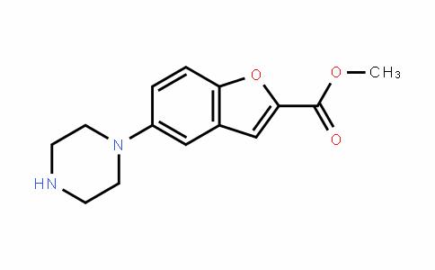 2-Benzofurancarboxylic acid, 5-(1-piperazinyl)-, methyl ester