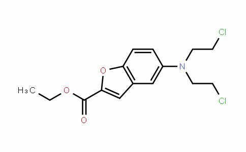 2-Benzofurancarboxylic acid, 5-[bis(2-chloroethyl)amino]-, ethyl ester