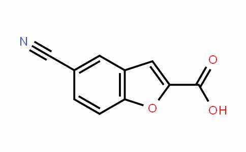 2-Benzofurancarboxylic acid, 5-cyano-