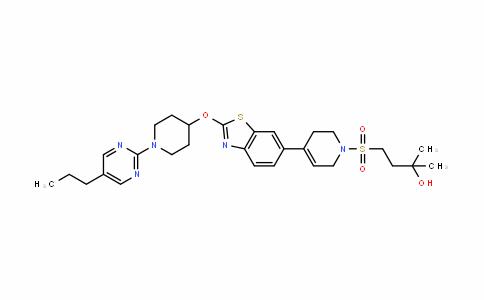 2-Butanol, 4-[[3,6-DihyDro-4-[2-[[1-(5-propyl-2-pyrimiDinyl)-4-piperiDinyl]oxy]-6-benzothiazolyl]-1(2H)-pyriDinyl]sulfonyl]-2-methyl-