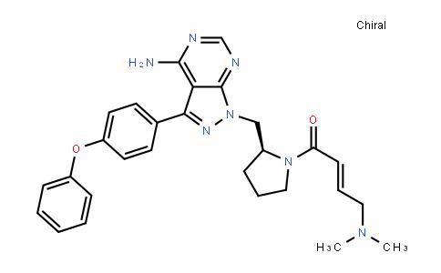 2-Buten-1-one, 1-[(2S)-2-[[4-amino-3-(4-phenoxyphenyl)-1H-pyrazolo[3,4-D]pyrimiDin-1-yl]methyl]-1-pyrroliDinyl]-4-(Dimethylamino)-, (2E)-