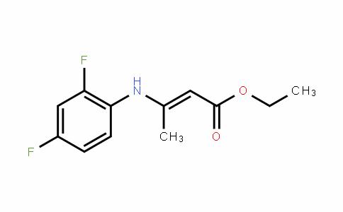 2-Butenoic acid, 3-[(2,4-Difluorophenyl)amino]-, ethyl ester
