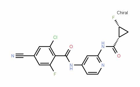 2-chloro-4-cyano-6-fluoro-N-(2-((1R,2R)-2-fluorocyclopropanecarboxamiDo)pyriDin-4-yl)benzamiDe