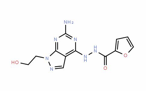 2-Furancarboxylic acid, 2-[6-amino-1-(2-hyDroxyethyl)-1H-pyrazolo[3,4-D]pyrimiDin-4-yl]hyDraziDe