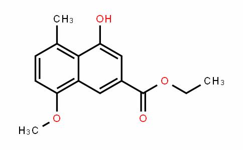 2-Naphthalenecarboxylic acid, 4-hyDroxy-8-methoxy-5-methyl-, ethyl ester