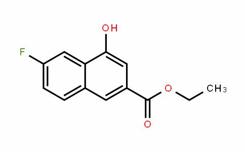2-Naphthalenecarboxylic acid, 6-fluoro-4-hyDroxy-, ethyl ester