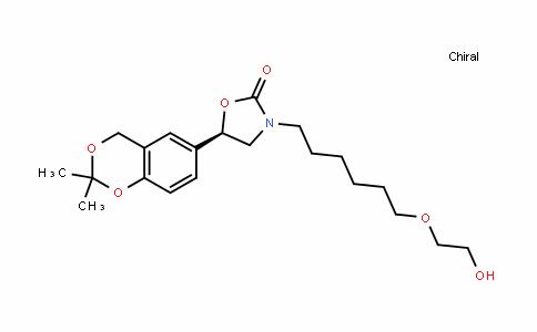 2-OxazoliDinone, 5-(2,2-Dimethyl-4H-1,3-benzoDioxin-6-yl)-3-[6-(2-hyDroxyethoxy)hexyl]-, (5R)-