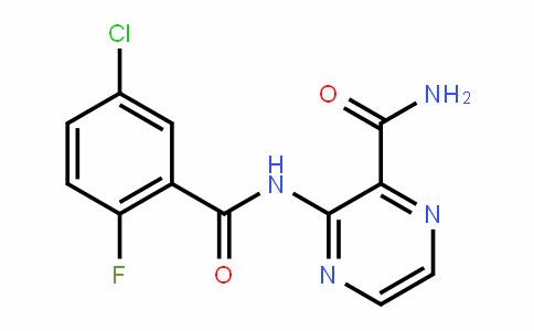 2-PyrazinecarboxamiDe, 3-[(5-chloro-2-fluorobenzoyl)amino]-