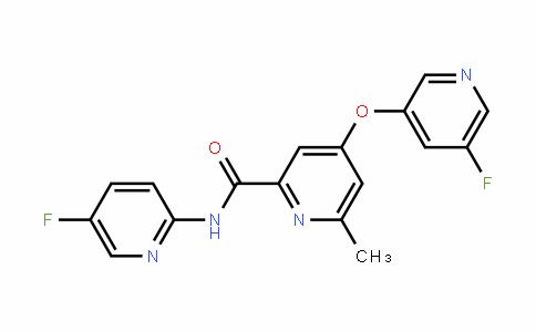 2-PyriDinecarboxamiDe, N-(5-fluoro-2-pyriDinyl)-4-[(5-fluoro-3-pyriDinyl)oxy]-6-methyl-