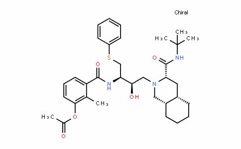3-(((2R,3R)-4-((3S,4aS,8aS)-3-(Tert-butylcarbamoyl)octahyDroisoquinolin-2(1H)-yl)-3-hyDroxy-1-(phenylthio)butan-2-yl)carbamoyl)-2-methylphenyl acetate