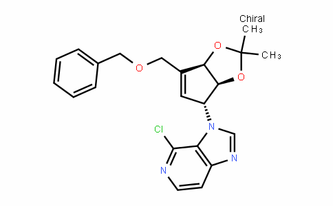 3-((3aS,4R,6aR)-6-(benzyloxymethyl)-2,2-Dimethyl-4,6a-DihyDro-3aH-cyclopenta[D][1,3]Dioxol-4-yl)-4-chloro-3H-imiDazo[4,5-c]pyriDine