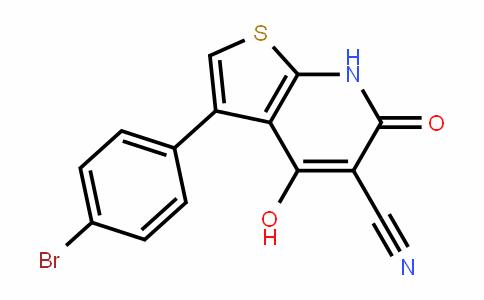 3-(4-bromophenyl)-4-hyDroxy-6-oxo-6,7-DihyDrothieno[2,3-b]pyriDine-5-carbonitrile
