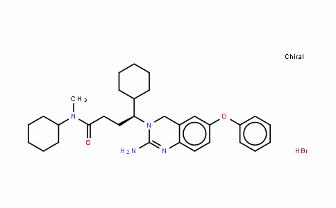 3(4H)-QuinazolinebutanaMiDe, 2-aMino-N,g-Dicyclohexyl-N-Methyl-6-phenoxy-, (hyDrobroMiDe) (1:1), (gS)- , (HBr salt)