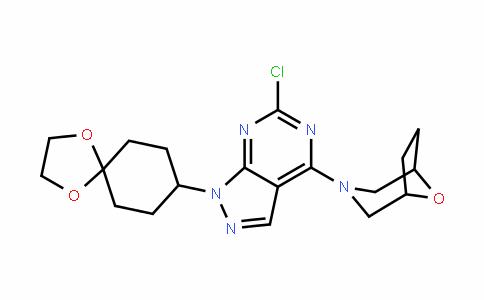 3-[6-氯-1-(1,4-二氧杂螺[4.5]癸-8-基)-1H-吡唑并[3,4-D]嘧啶-4-基]-8-氧杂-3-氮杂双环[3.2.1]辛烷