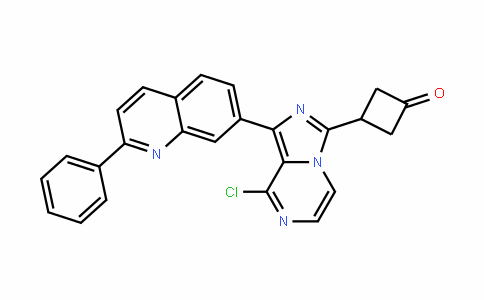 3-(8-chloro-1-(2-phenylquinolin-7-yl)imiDazo[1,5-a]pyrazin-3-yl)cyclobutanone