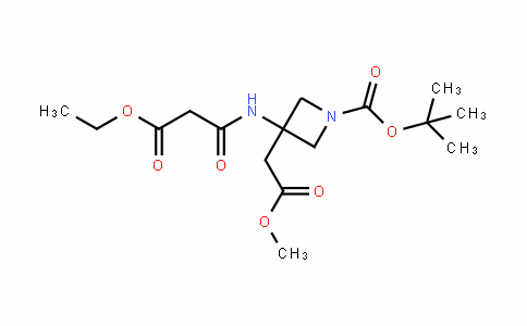 3-AzetiDineacetic acid, 1-[(1,1-Dimethylethoxy)carbonyl]-3-[(3-ethoxy-1,3-Dioxopropyl)amino]-, methyl ester