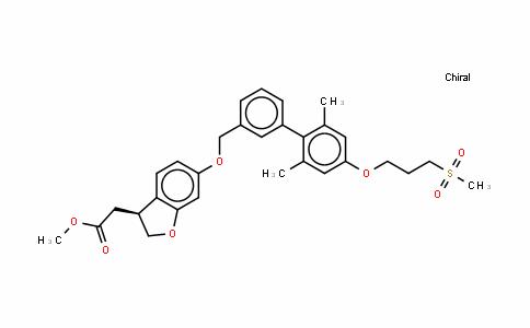 3-Benzofuranacetic acid, 6-[[2',6'-DiMethyl-4'-[3-(Methylsulfonyl)propoxy][1,1'-biphenyl]-3-yl]Methoxy]-2,3-DihyDro-, Methyl ester, (3S)-