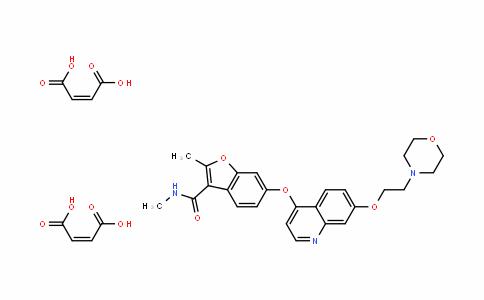 3-BenzofurancarboxaMiDe, N,2-DiMethyl-6-[[7-[2-(4-Morpholinyl)ethoxy]-4-quinolinyl]oxy]-, (2Z)-2-buteneDioate (1:2)