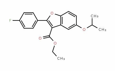3-Benzofurancarboxylic acid, 2-(4-fluorophenyl)-5-(1-methylethoxy)-, ethyl ester