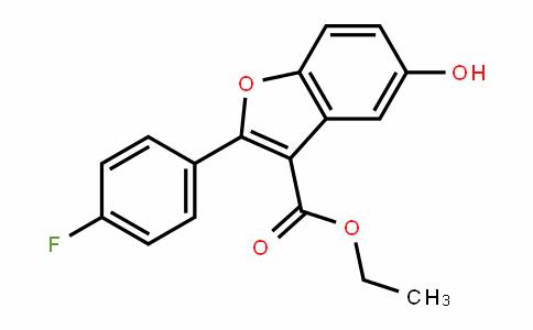 3-Benzofurancarboxylic acid, 2-(4-fluorophenyl)-5-hyDroxy-, ethyl ester