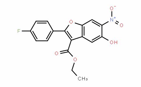 3-Benzofurancarboxylic acid, 2-(4-fluorophenyl)-5-hyDroxy-6-nitro-, ethyl ester