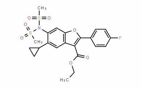 3-Benzofurancarboxylic acid, 6-[bis(methylsulfonyl)amino]-5-cyclopropyl-2-(4-fluorophenyl)-, ethyl ester