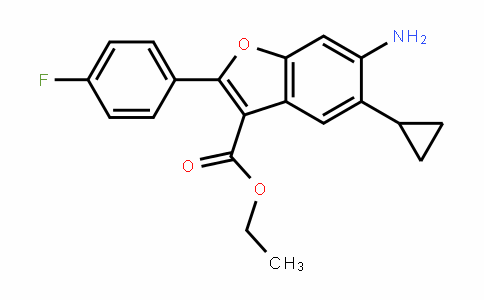 3-Benzofurancarboxylic acid, 6-amino-5-cyclopropyl-2-(4-fluorophenyl)-, ethyl ester