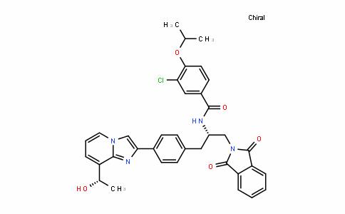 3-chloro-N-((S)-1-(1,3-DioxoisoinDolin-2-yl)-3-(4-(8-((S)-1-hyDroxyethyl)imiDazo[1,2-a]pyriDin-2-yl)phenyl)propan-2-yl)-4-isopropoxybenzamiDe