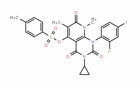3-cyclopropyl-1-(2-fluoro-4-ioDophenyl)-6,8-Dimethyl-2,4,7-trioxo-1,2,3,4,7,8-hexahyDropyriDo[2,3-D]pyrimiDin-5-yl 4-methylbenzenesulfonate