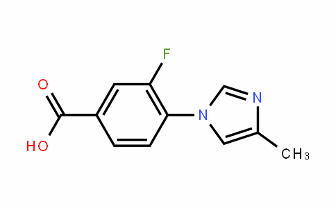 3-fluoro-4-(4-methyl-1H-imiDazol-1-yl)benzoic acid