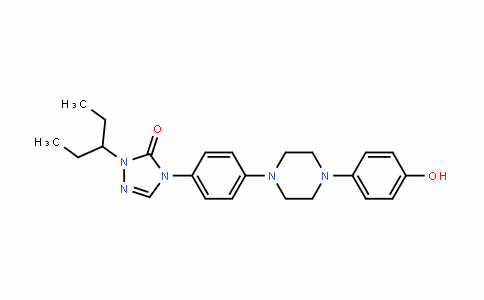 3H-1,2,4-Triazol-3-one, 2-(1-ethylpropyl)-2,4-DihyDro-4-[4-[4-(4-hyDroxyphenyl)-1-piperazinyl]phenyl]-